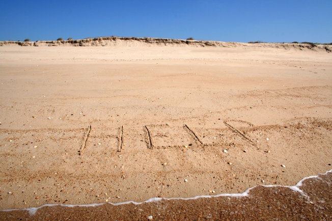 Message on the sand
